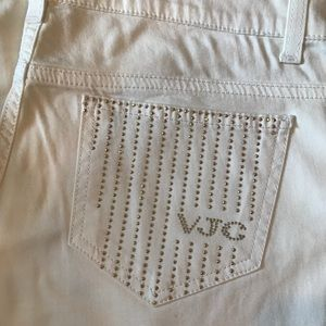 Versace Jeans White Studded Jeans Sz 29
